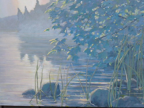 "Sunrise on Shore, 30x40"""