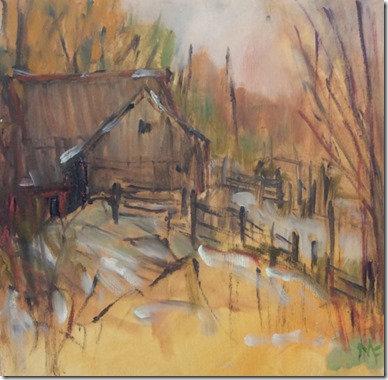 """Autumn Gold – Foley Mountain, 9.75x9.75"""""""