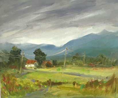 """View from Bolton Road, 12"""" x 10"""""""