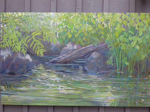 """By The Water, 36x60"""""""