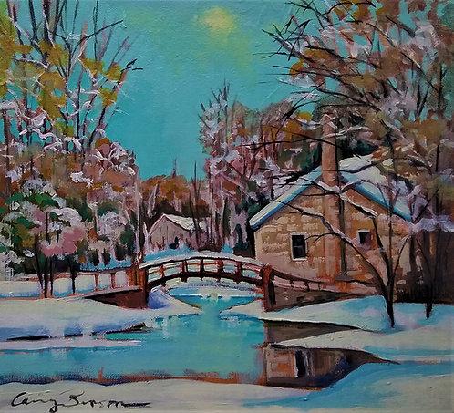 """Winter Wonderland, Stewart Park, 12x10.5"""""""