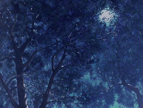 "Spring Moon 1-36 x 24"""