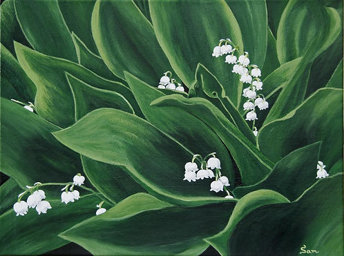 """Lilies of the Valley, 16x12"""""""