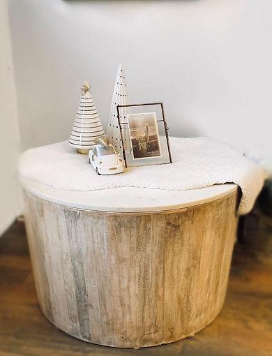 wood marble table decor