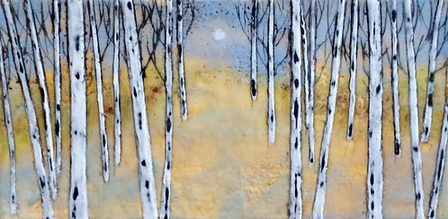 Fall Birches 12x6