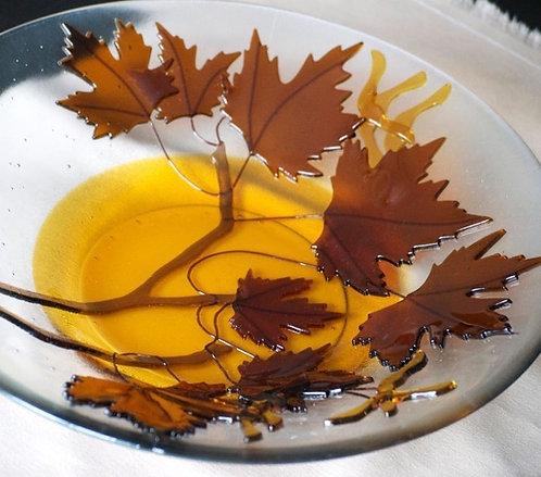 Maple Keys glass bowl