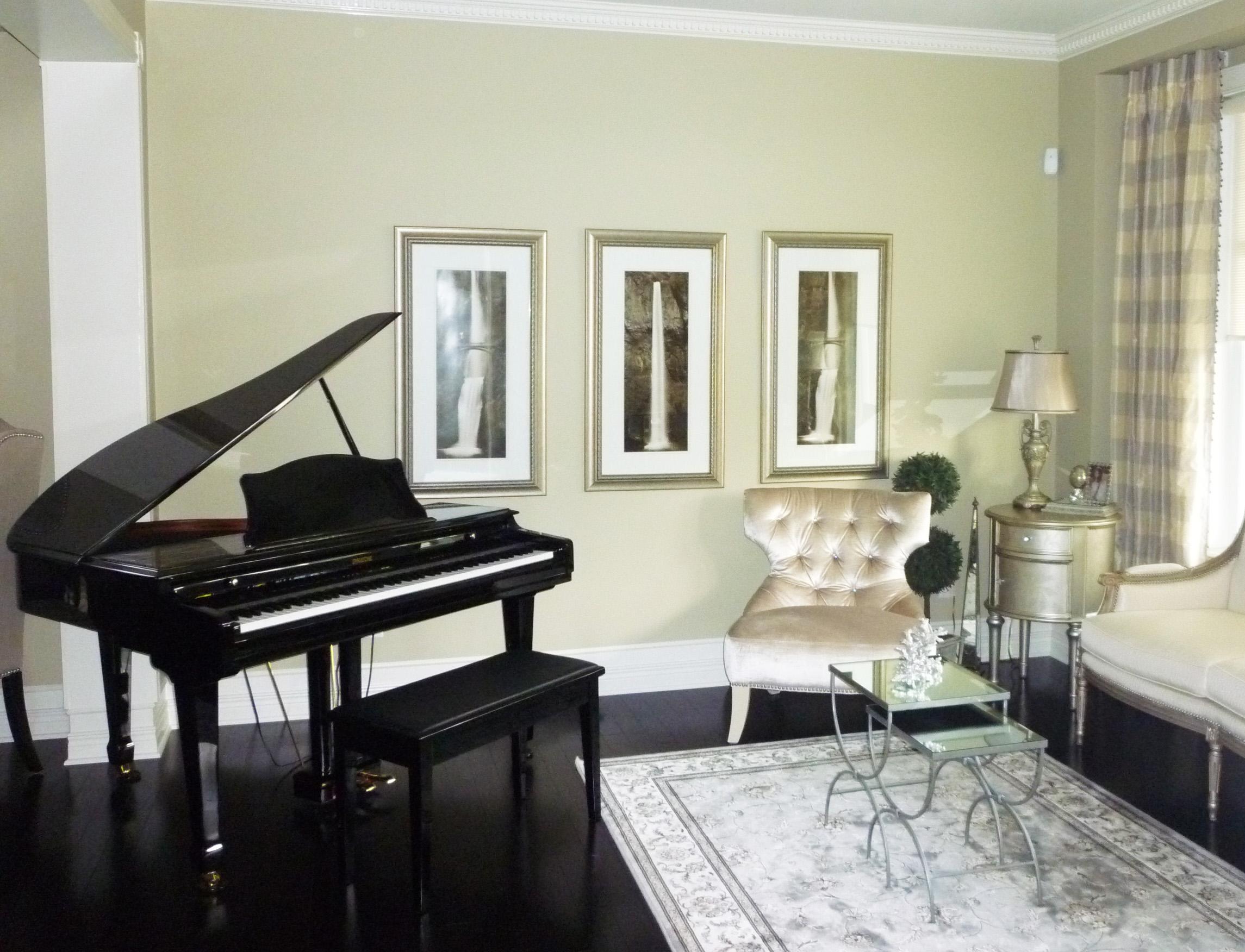 Residential Home Design - Music Room
