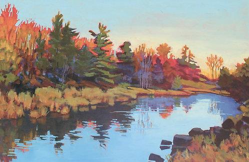 "19-89 Little Crosby Creek in October - 24x36"""