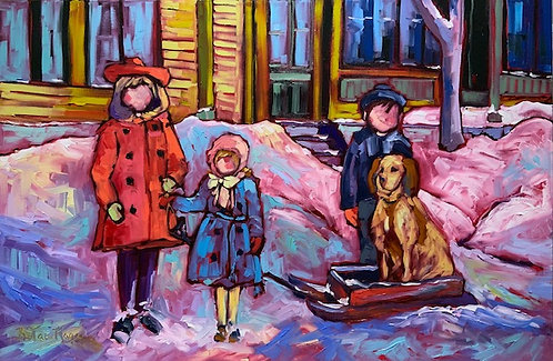 """Once Upon a Time at 23 Alma Street-  24"""" x 36"""""""