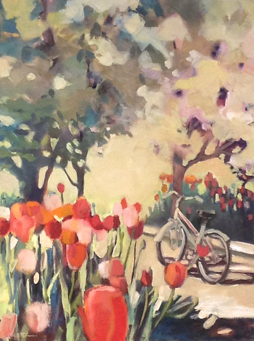 Stopping By Tulips