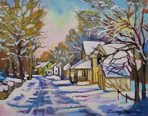 "Snowy Day, Mill St., 10x8"""