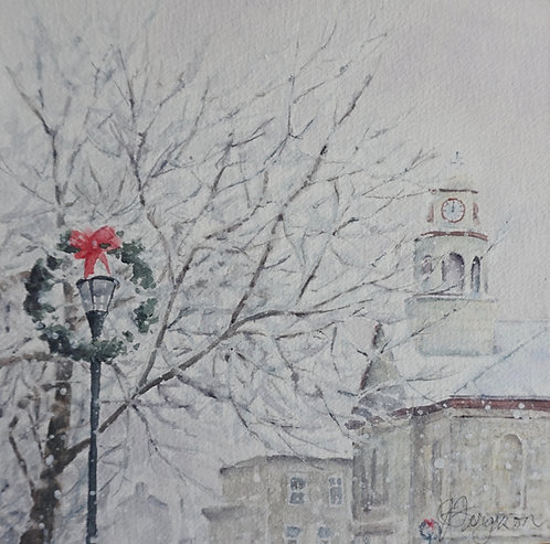 Town Hall in the Snow