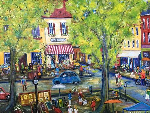 """Montmartre, 40x40"""""""
