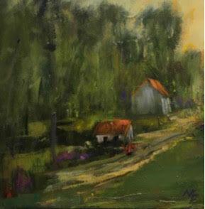 "Evening Light - Clayton, 8x8"""