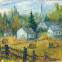 """Harvest Time – North Gower, 12x12"""""""