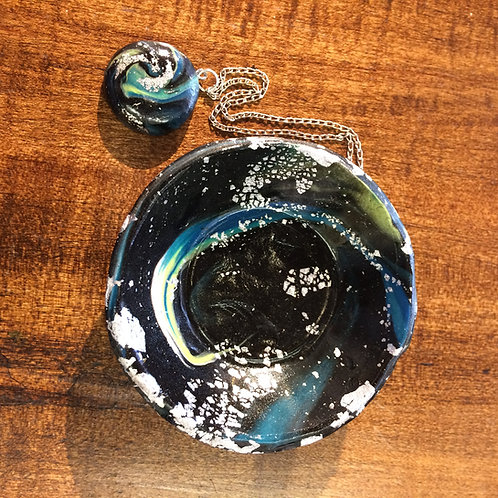 Galaxy Bowl and Pendant #1