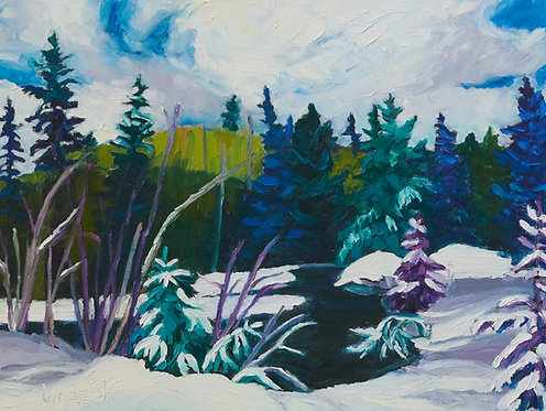 """Temagami Winter View- 24x18"""""""