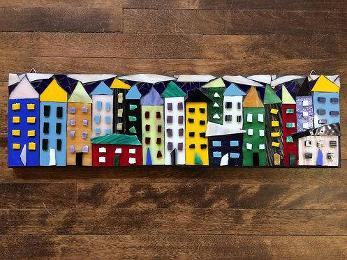 "Little Houses VIII- 26x7"""