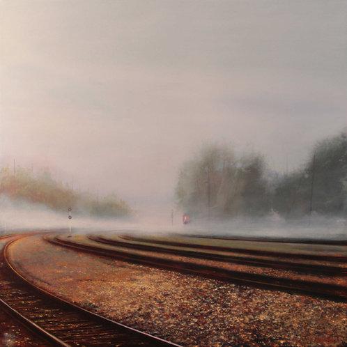 "November Mist, 36x36"""