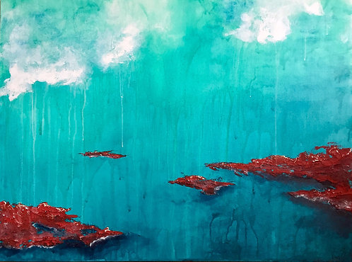 """Red Islands, 30x40"""""""