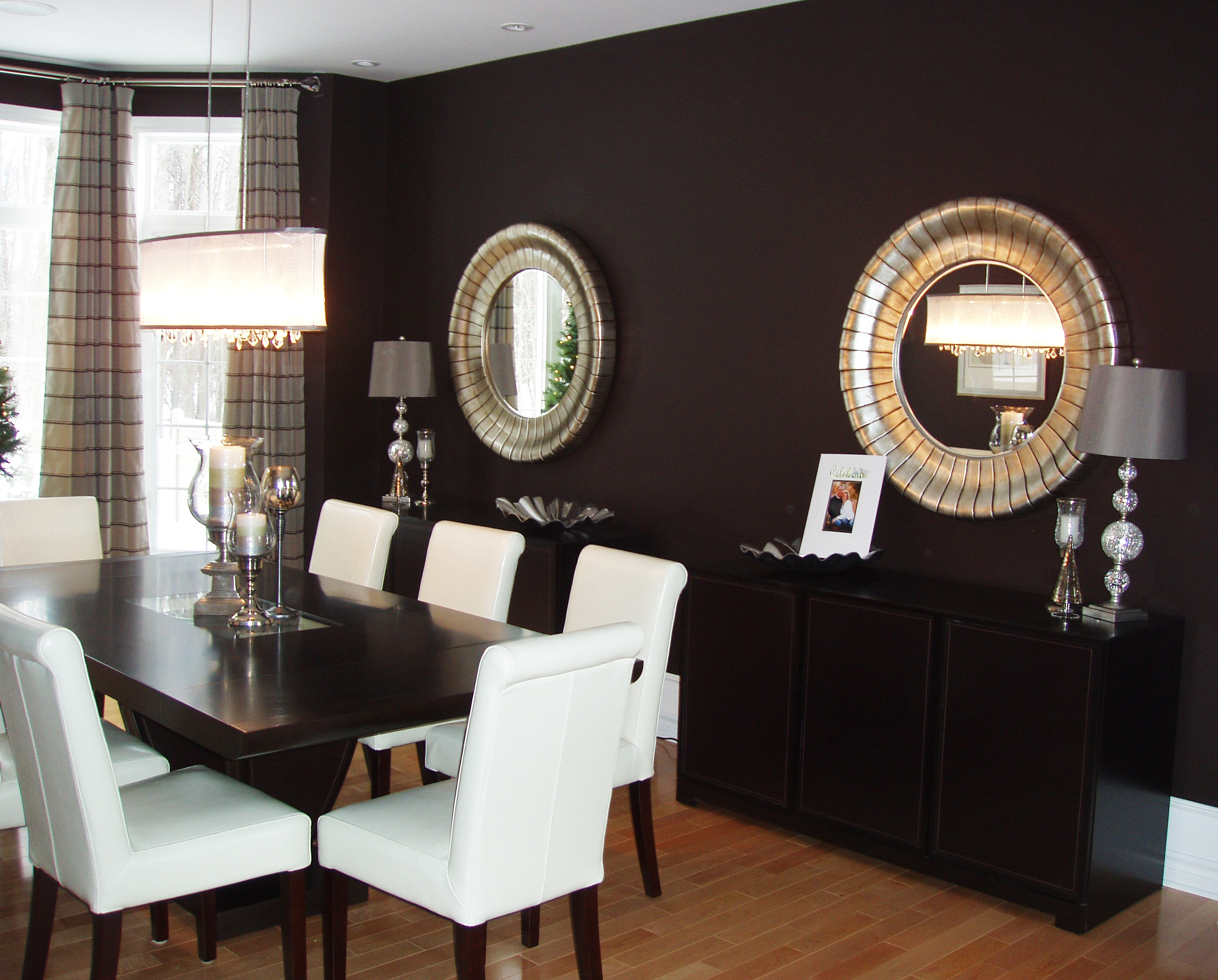 Accent Wall with Interior Decor