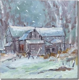 "Snowy Day - Manotick, 12x12"""