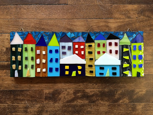 "Little Houses VI- 18x6"""