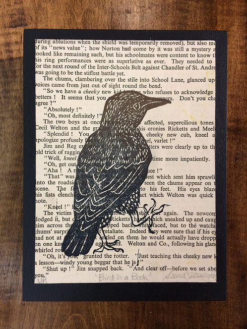 "Bird in a Book, Unique Print (Edition #1 of 1)-6x8"""