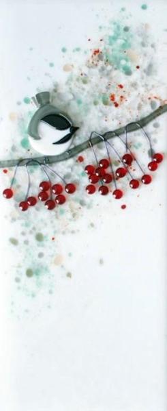 Chickadees with Winterberry II