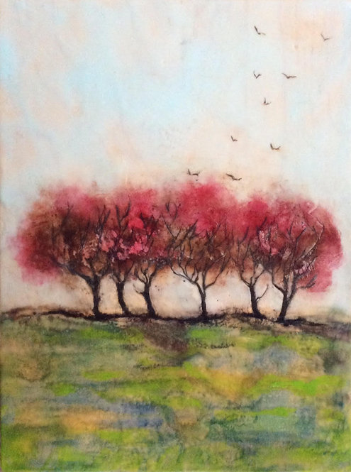 Six Red Trees