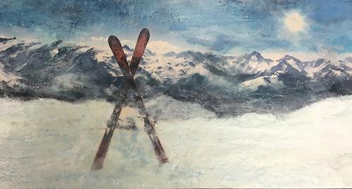 "Ski Country- 18x36"""