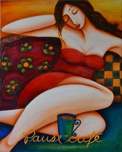 """Pause Café 2011-10    -30×24"""""""