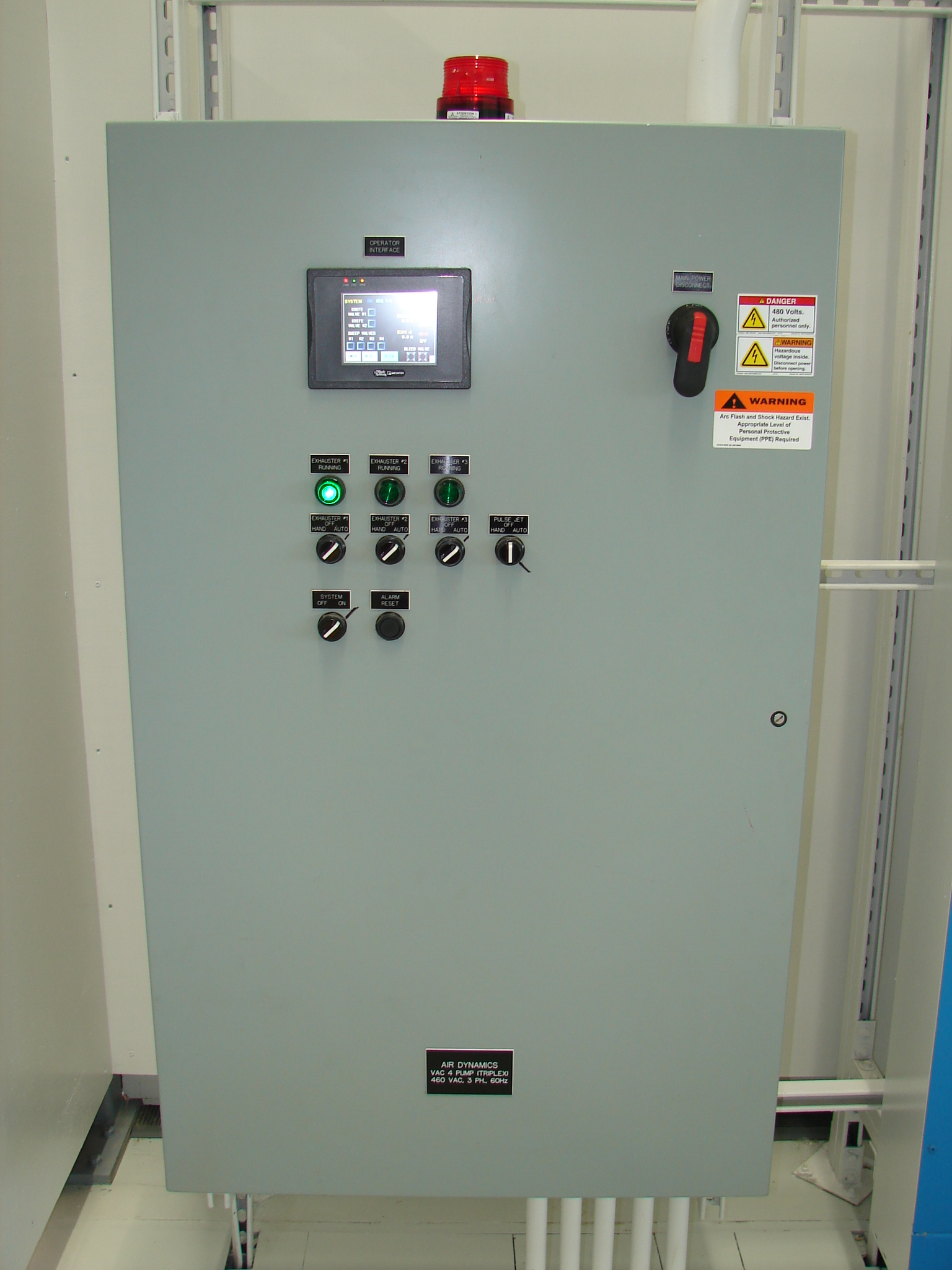 Air Dynamics' CV HMI Control Panel