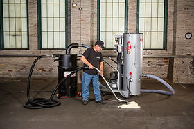 PLECO Portable HEPA Vacuum System with drum top separator