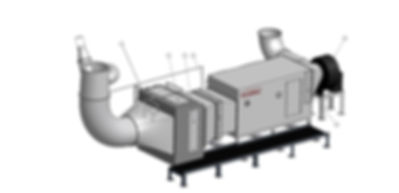 Industrial hydrodynamic design for cleaning air of pollutants and harmful substances and particulates. Removes 95% with HEPA filtration while reducing maintenance time and energy expediture for increased ROI.