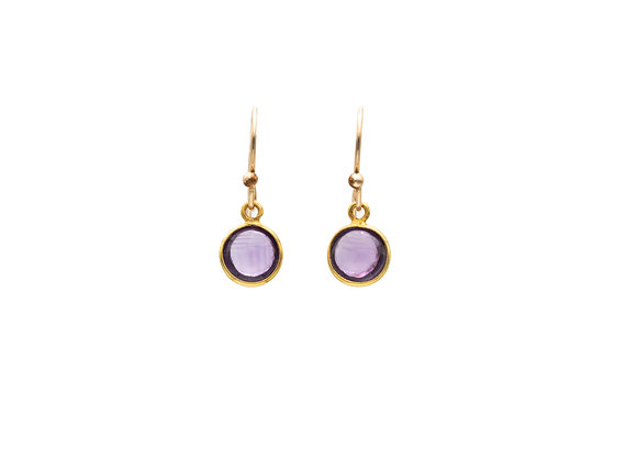 Amethyst Natural Gemstone Earrings