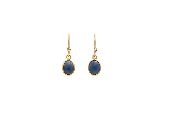 Sapphire Natural Gemstone Earrings
