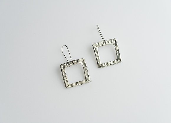 Fine Silver Square Earrings