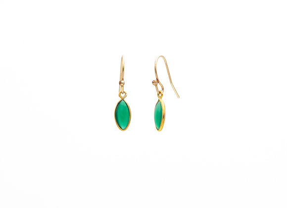 Green Onyx Natural Gemstone Earrings