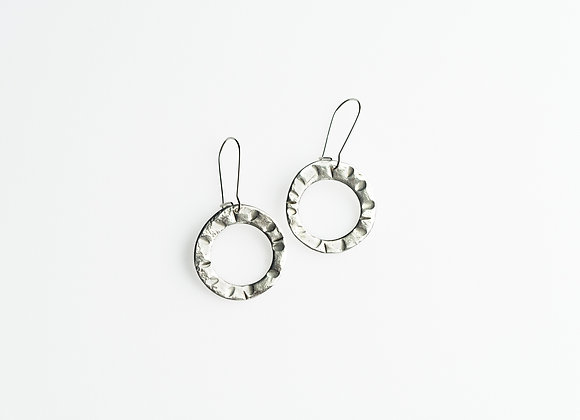 Fine Silver Circle Hoop Earrings