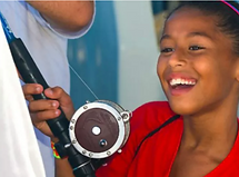 girl child fishing fun summer marine education initiative news