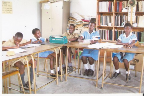 Children with visual impairment in a resource room