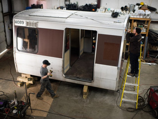 In sculptor's hands, Metro's old rail cars become kiosks