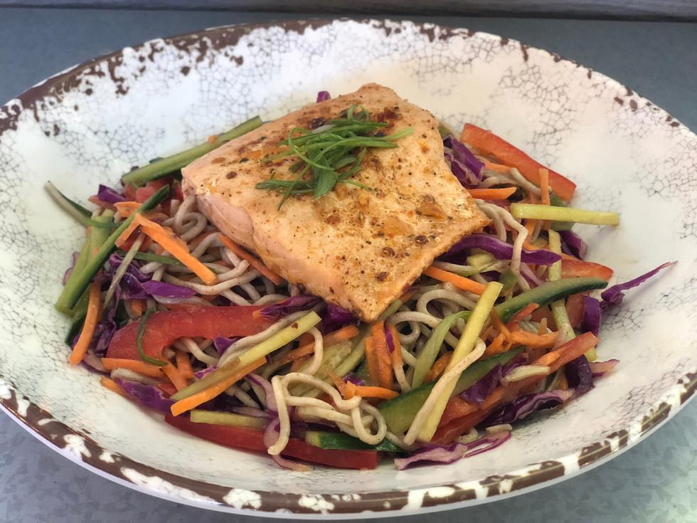 Salmon Soba Noodle Bowl