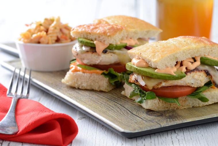 Chipotle Chicken Sandwich with Pasta Sal