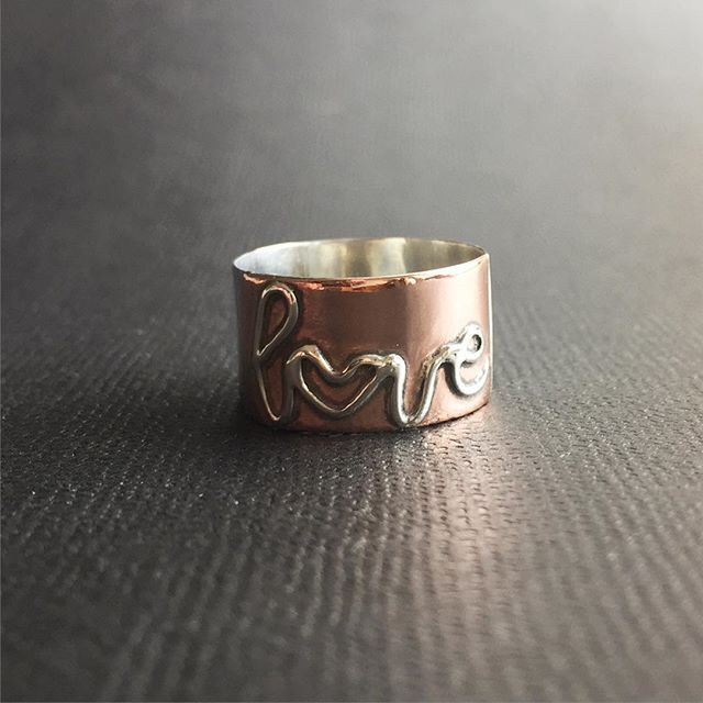 Custom LOVE ring