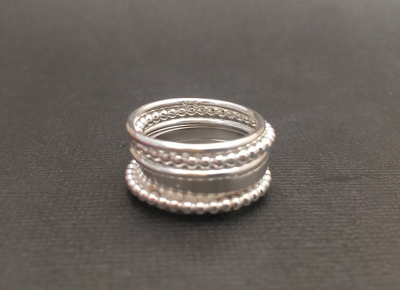 Sterling Silver 5 stacker rings