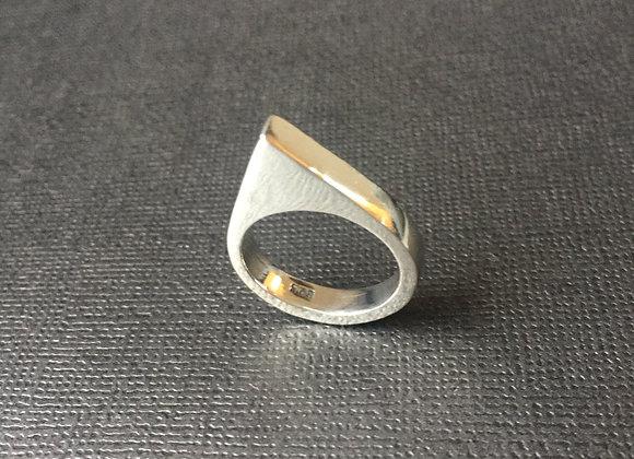 'Rhino' Sterling Silver Geometric Ring