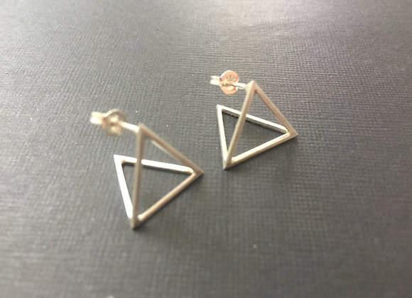 'Kwekwe' Geometric earrings in sterling silver