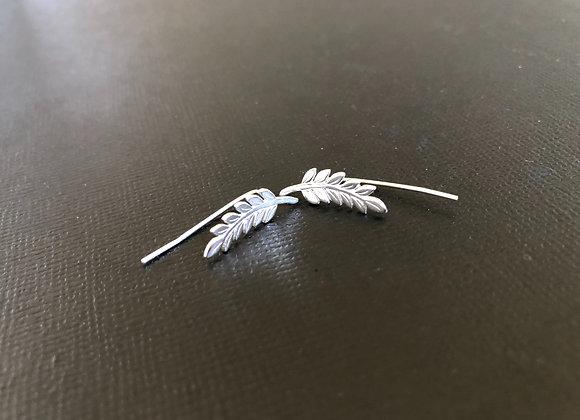 Sterling silver leaf ear wires